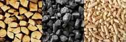 Typ paliva pro kotel ATMOS - drevo, uhli a pelety